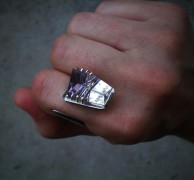 Figure 4: Ring of sterling silver and laser cut amethyst.